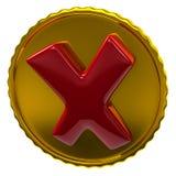 Красный знак тикания Стоковое фото RF