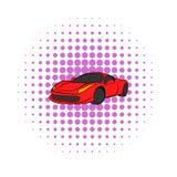Красный значок автомобиля, стиль комиксов бесплатная иллюстрация