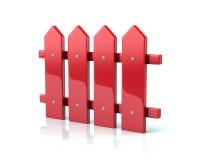 Красный значок загородки иллюстрация штока