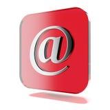 Красный значок почты Стоковое Изображение