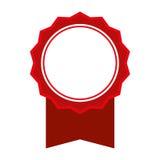 Красный значок штемпеля уплотнения Дизайн ярлыка по мере того как вектор свирли предпосылки декоративный графический стилизованны бесплатная иллюстрация