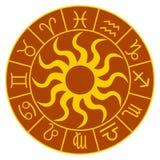красный зодиак колеса Стоковое Изображение