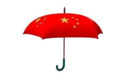 Красный зонтик, перевод 3d Стоковые Фото