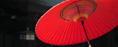 красный зонтик Стоковая Фотография