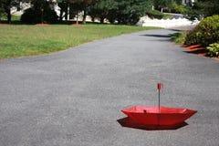 Красный зонтик Стоковое Изображение RF