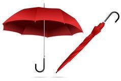 красный зонтик иллюстрация штока