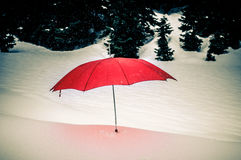 красный зонтик Стоковые Фотографии RF