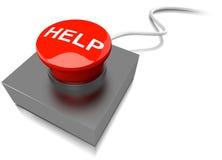 Красный зуммер кнопки помощи на кабеле Стоковое Изображение RF