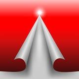 Красный дизайн отрезал бумагу в форме сосны рождества Стоковые Фотографии RF
