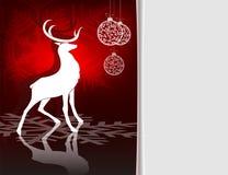 Красный дизайн рождества с северным оленем Стоковые Фото