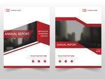 Красный дизайн шаблона годового отчета рогульки листовки брошюры дела, дизайн плана обложки книги, абстрактное представление дела иллюстрация вектора