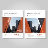 Красный дизайн шаблона рогульки брошюры листовки годового отчета вектора, дизайн плана обложки книги, абстрактные голубые шаблоны иллюстрация вектора