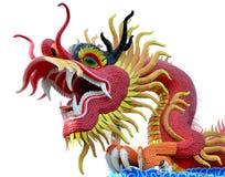 Красный изолированный дракон стоковые фотографии rf