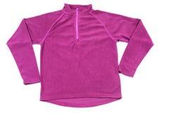 Красный изолированный свитер ватки Стоковое фото RF