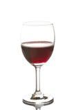 Красный изолят бокала Стоковое Фото