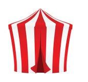 Красный и белый шатер цирка бесплатная иллюстрация