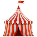 Красный и белизна stripes шатер цирка иллюстрация вектора