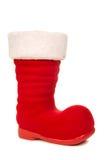 Красный и белый ботинок ` s santa Стоковые Изображения