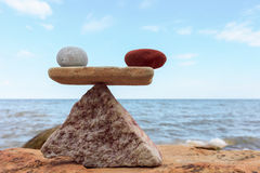 Красный и белый камень Стоковая Фотография
