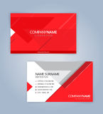 Красный и белый современный шаблон визитной карточки Стоковые Изображения RF
