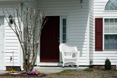 Красный и белый Entryway Стоковые Изображения