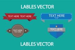 Красный и голубой вектор Lables Стоковое Изображение