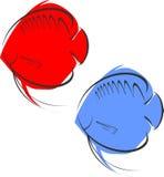 Красный и голубой диск Стоковое Изображение RF