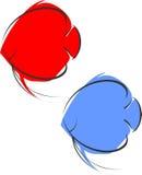 Красный и голубой диск Стоковые Изображения
