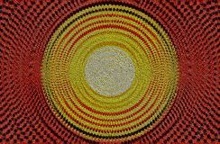 Красный и желтый дизайн круга стоковое фото