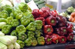 Красный и зеленый перец Стоковая Фотография RF