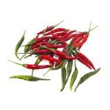 Красный и зеленый перец chili Стоковые Фотографии RF