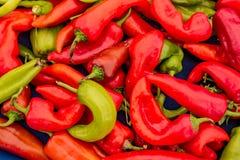 Красный и зеленый стог перца Chili Стоковое Изображение RF