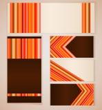 Красный и оранжевый шаблон карточки Стоковое Фото