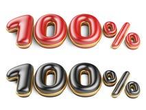 Красный и почерните 100 процентов Стоковое Изображение RF