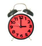 Красный и черный будильник металла подсчитывая на 3 Стоковые Изображения