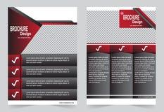 Красный и черный дизайн рогульки шаблона брошюры бесплатная иллюстрация