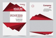 Красный и черный дизайн рогульки шаблона брошюры иллюстрация штока