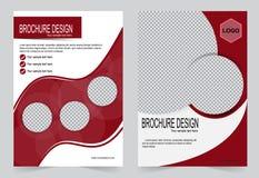 Красный и черный дизайн рогульки шаблона брошюры иллюстрация вектора
