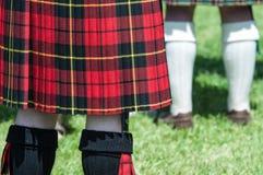 Красный и черный шотландский Kilt Стоковая Фотография RF