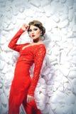 Красный иллюзион стоковое изображение