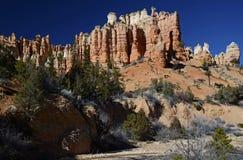 Красный каменный замок Каньон Bryce, Юта, США Стоковые Фотографии RF