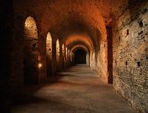 Красный каменный замок Стоковые Изображения RF