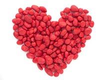 красный камень форма сердца стоковые фото