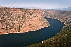 Красный каньон, рекреационная зона пламенеющего ущелья национальная, Юта Стоковая Фотография