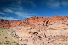 Красный каньон утеса - Невада, США стоковое изображение