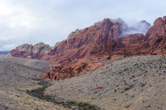 Красный каньон утеса, Невада. Стоковые Изображения RF