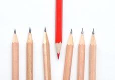 Красные и простые карандаши Стоковое Изображение RF