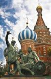 Красный квадрат Москва, собор базилика святой Стоковая Фотография RF