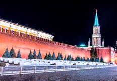Красный квадрат kremlin moscow Стоковое Изображение RF