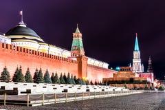 красный квадрат kremlin moscow Стоковые Фото